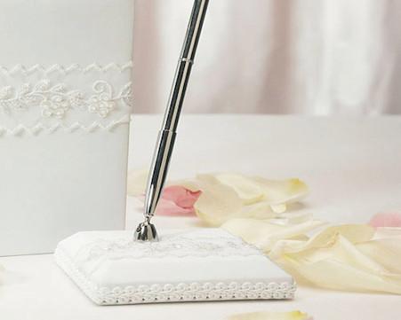 Wedding Accessories - Weddingstar Sweet Art Satin Wrapped Pen Set