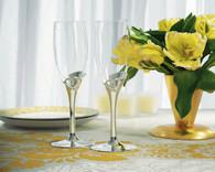 Wedding Decorations - Weddingstar Open Loop Heart Wedding Champagne Flutes