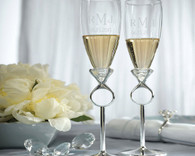Wedding Ideas - Weddingstar Diamond Ring Design Wedding Champagne Glasses