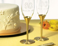 Wedding Reception - Weddingstar Gold Wedding Champagne Flutes Venice Design