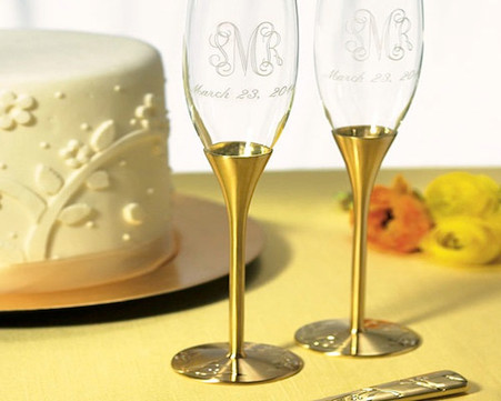 Wedding Reception Weddingstar Gold Champagne Flutes Venice Design