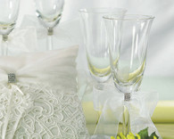 Wedding Table Decorations - Weddingstar Bridal Tapestry Wedding Champagne Glasses