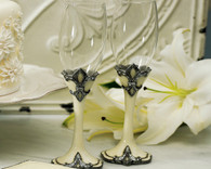 Wedding Table Decorations - Weddingstar Fleur De Lis Wedding Champagne Flutes