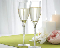 Wedding Reception Ideas - Weddingstar Crystal Stones in Stem Wedding Champagne Flutes