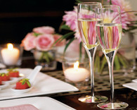 Wedding Decoration Ideas - Weddingstar Silver Tulip Stem Wedding Champagne Flutes