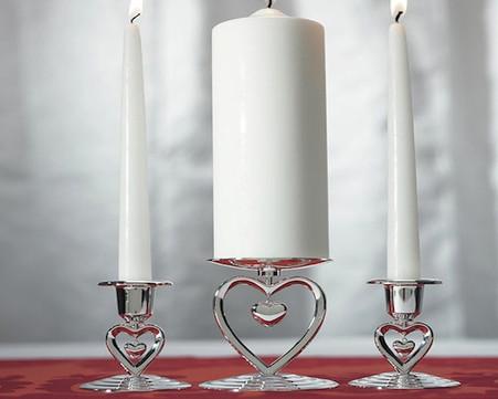 Wedding Accessories - Weddingstar Suspended Heart Unity & Taper Holders Suspended Heart Unity Candle Holder