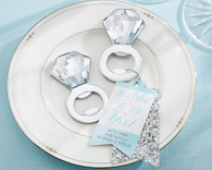 """Bridal Shower Favors - """"He Asked, She Said Yes"""" Engagement Ring Bottle Opener"""