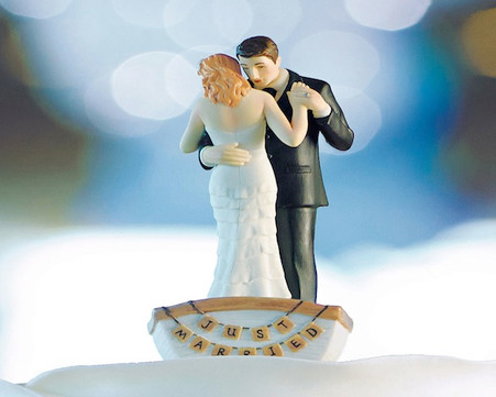 "Wedding Cake Toppers - Weddingstar ""Row Away"" Wedding Couple in Rowboat Figurine"