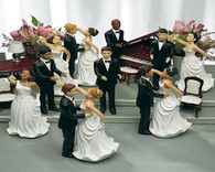 Personalized Hair Color for Bride and Groom Cake Toppers