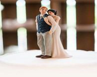 Default Hair Color for Bride and Groom Cake Toppers