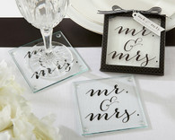 Wedding Favors - Classic Mr. and Mrs. Coasters
