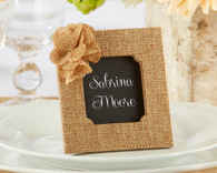 "Wedding Favors - ""Rustic Rose"" Burlap Frame"