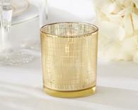 Wedding Favors - Classic Gold Stripe Tealight Holder (Set of 4)
