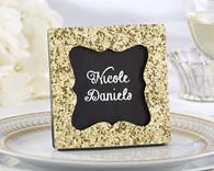 "Wedding Favors - ""All that Glitters"" Gold Glitter Frame"