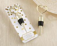 """Wedding Favors - """"Heart of Gold"""" Bottle Stopper"""