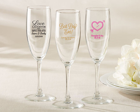 Wedding Favors - Kate Aspen - Personalized Champagne Flute