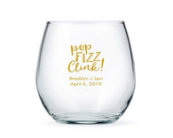 Large Personalized Stemless Wine Glasses