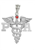 PA charm physician assistant pinning ceremony graduation gifts and jewelry.  PA grad pendant in 14K or silver is gift boxed and ships fast.