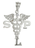 SLP charm speech language pathologist pinning ceremony graduation jewelry and gifts.  Speech Therapist class discounts, gift boxes and fast ship.