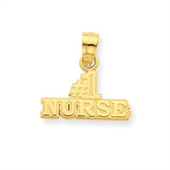 #1 Nurse Charm in 14K Gold