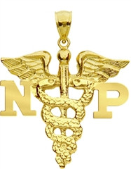 Nurse Practitioner charm in 14K gold.
