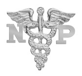 Nursing pin NP nurse practitioner pinning ceremony graduation. These quality NP nursing pins are available in silver. NP Pins for nursing school awards.