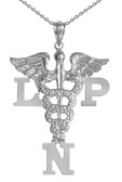 LPN necklace licensed practical nurses pinning ceremony graduation gifts jewelry.  LPN nurse necklace made in silver or 14K and shipped fast.