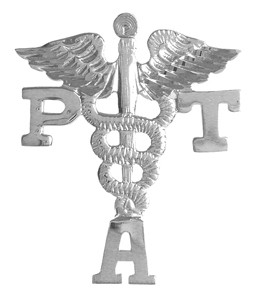 Physical therapist assistant PTA pins pinning ceremony graduations. Our PTA pins are awesome gifts of fine jewelry for graduating students.