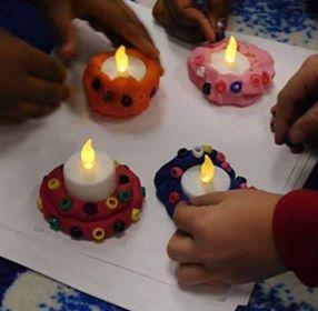 Diyas to celebrate Diwali.