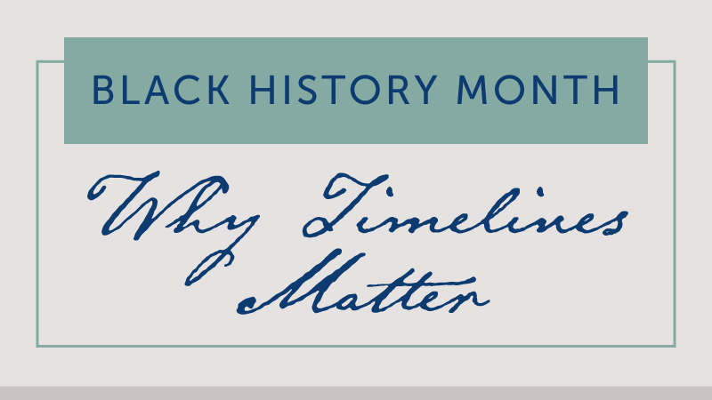 Black History Month: Why Timelines Matter