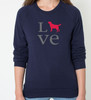 Unisex Love Labrador Retriever Sweatshirt