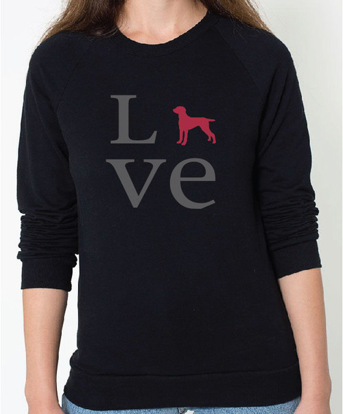 Unisex Love Weimaraner Sweatshirt
