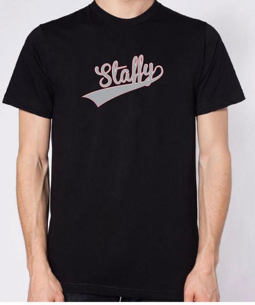 Righteous Hound - Unisex Varsity Staffordshire Terrier T-Shirt