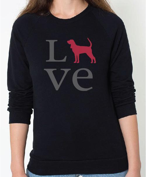 Unisex Love Coonhound Sweatshirt