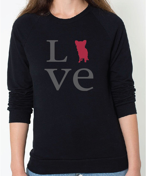 Unisex Love Papillon Sweatshirt