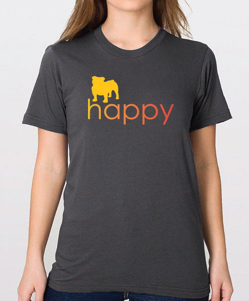 Righteous Hound - Unisex Happy Bulldog T-Shirt