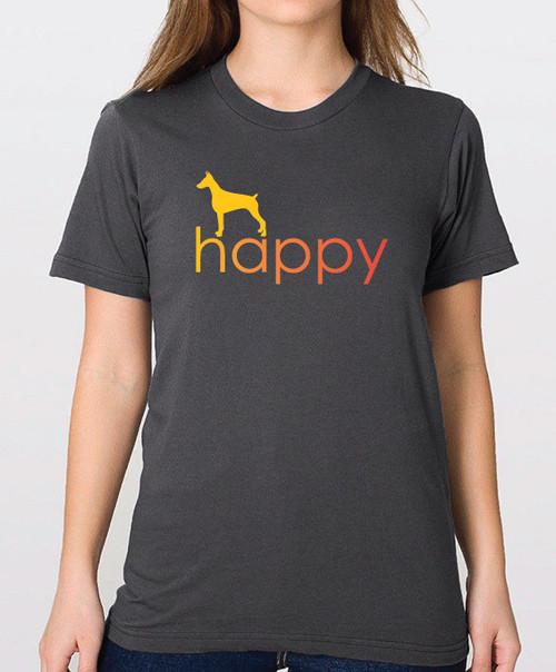 Righteous Hound - Unisex Happy Doberman T-Shirt