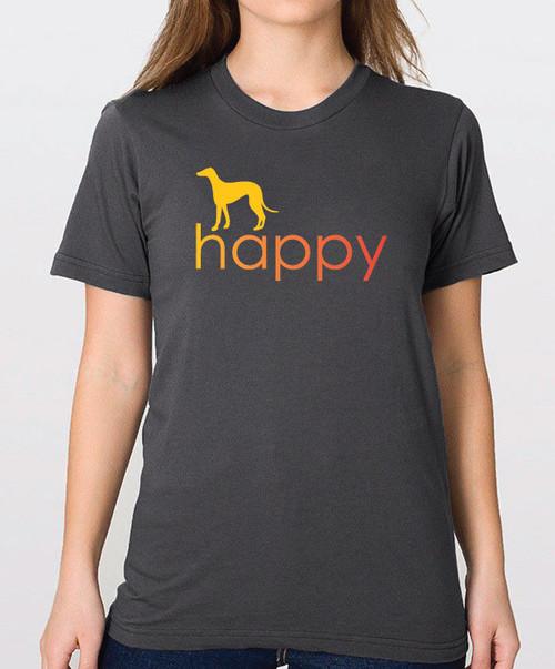 Righteous Hound - Unisex Happy Greyhound T-Shirt