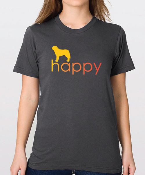 Righteous Hound - Unisex Happy Saint Bernard T-Shirt