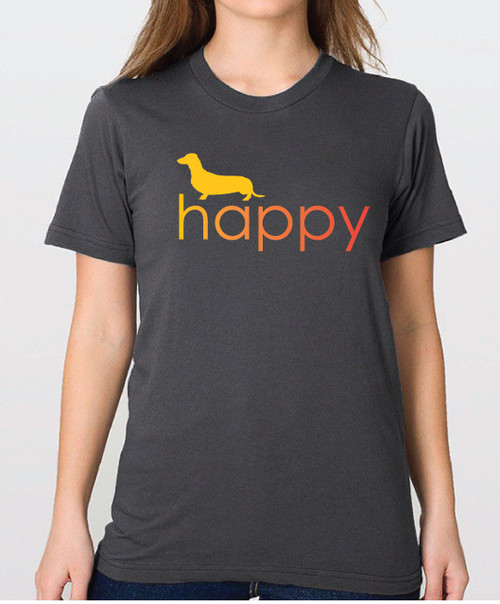 Righteous Hound - Unisex Happy Dachshund T-Shirt