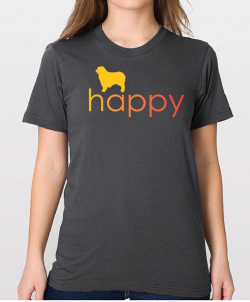 Righteous Hound - Unisex Happy Australian Shepherd T-Shirt
