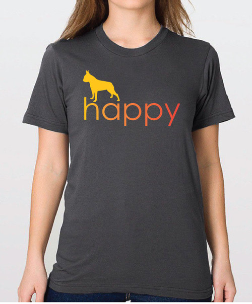 Righteous Hound - Unisex Happy Boston Terrier T-Shirt