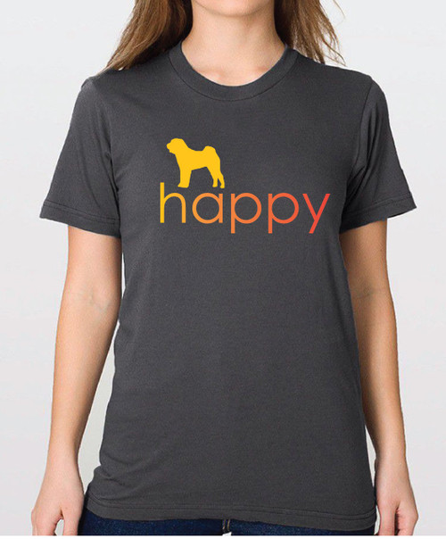 Righteous Hound - Unisex Happy Shar-Pei T-Shirt