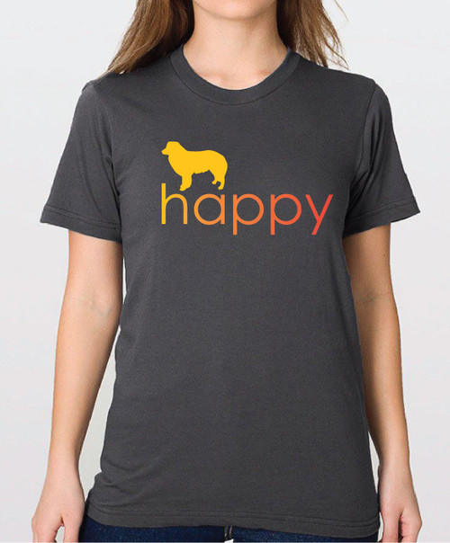 Righteous Hound - Unisex Happy Border Collie T-Shirt