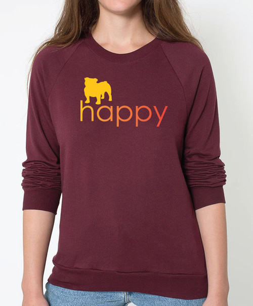 Righteous Hound - Unisex Happy Bulldog Sweatshirt
