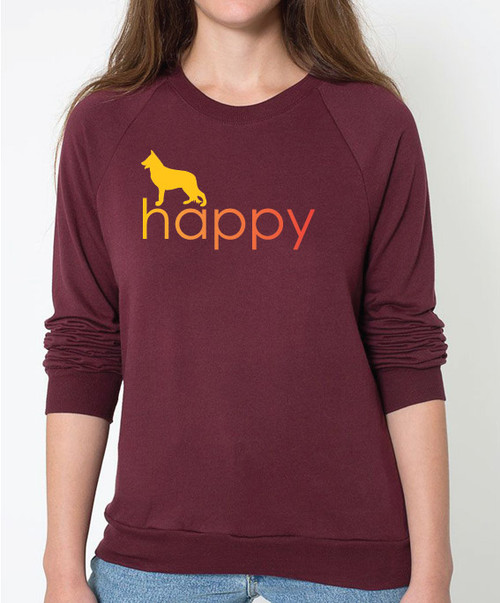 Righteous Hound - Unisex Happy German Shepherd Sweatshirt