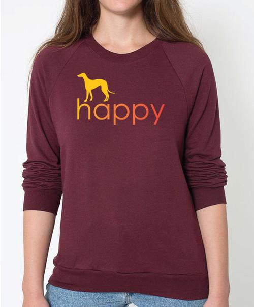 Righteous Hound - Unisex Happy Greyhound Sweatshirt