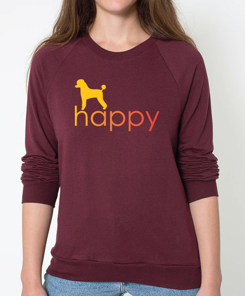Righteous Hound - Unisex Happy Poodle Sweatshirt