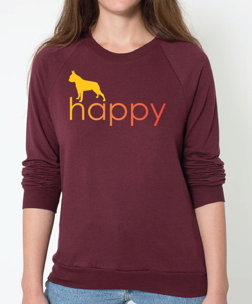 Righteous Hound - Unisex Happy Boston Terrier Sweatshirt