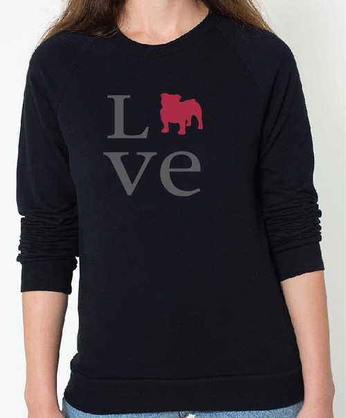 Unisex Love Bulldog Sweatshirt